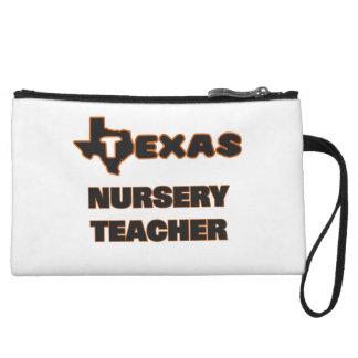 Texas Nursery Teacher Wristlet Clutch