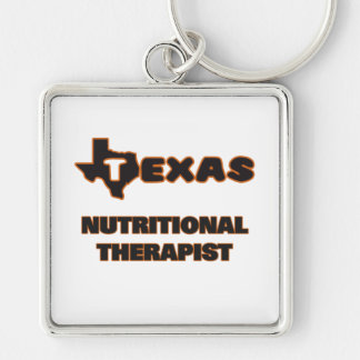 Texas Nutritional Therapist Silver-Colored Square Keychain