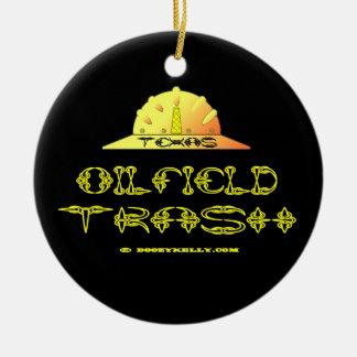 Texas Oil Field Trash,Hard Hat,Oil Field Trash,Oil Ceramic Ornament