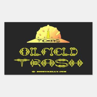 Texas Oil Field Trash,Texan,Oil,Gas,Rigs,Hard Hat Rectangular Stickers
