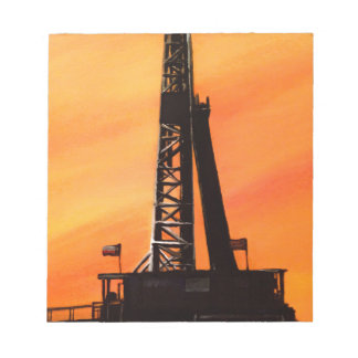 Texas Oil Rig Notepad