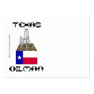 Texas Oilman Business Cards Oil Gas Rig Flag