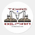 Texas Oilman, Oil Field Sticker
