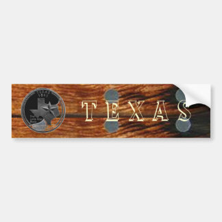 Texas on Wood Bumper Sticker