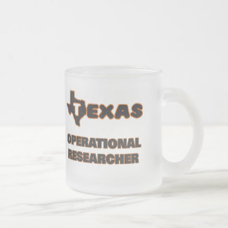 Texas Operational Researcher 10 Oz Frosted Glass Coffee Mug