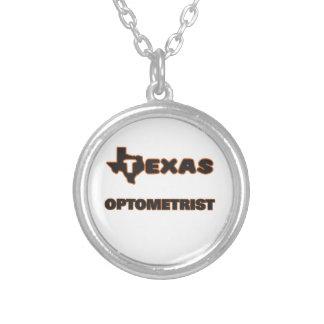 Texas Optometrist Round Pendant Necklace