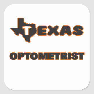 Texas Optometrist Square Sticker