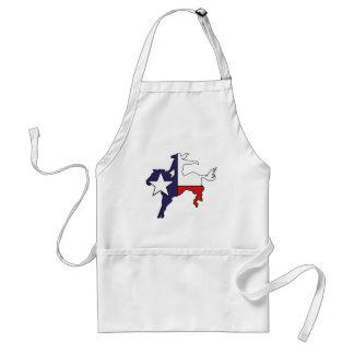 Texas outline bucking horse cowboy flag adult apron