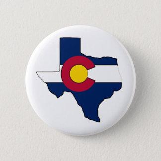 Texas outline Colorado flag pin back putton