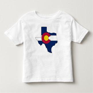 Texas outline Colorado flag toddler tshirt