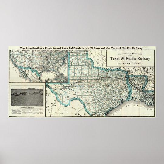 Texas Pacific Railway Poster