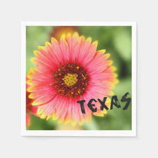 Texas Paintbrush Paper Napkin