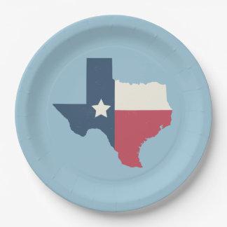 Texas Paper Plates - Flag