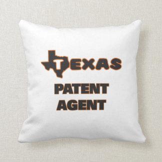 Texas Patent Agent Throw Pillows