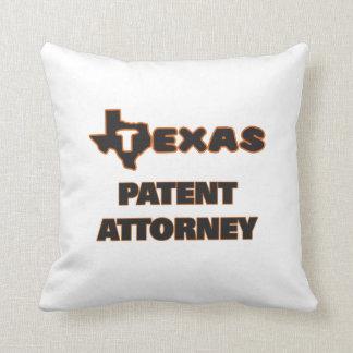 Texas Patent Attorney Throw Pillows