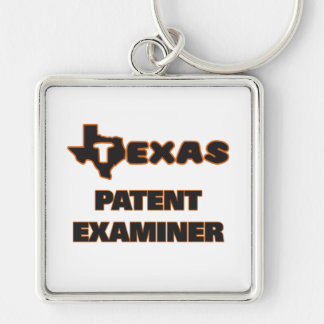Texas Patent Examiner Silver-Colored Square Keychain