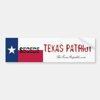 TEXAS PATRIOT!! BUMPER STICKER