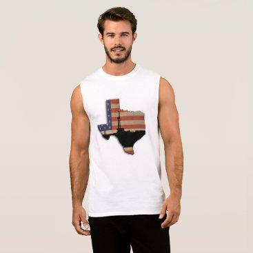 USA Themed Texas Patriotic Oil Drilling Rig Sleeveless Shirt