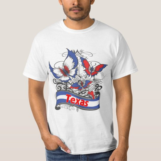 Texas Patriotism Butterfly T-Shirt