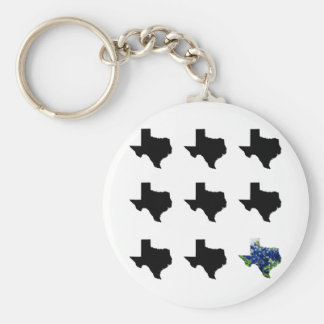 Texas pattern keychain