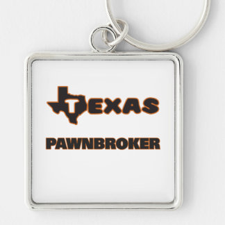 Texas Pawnbroker Silver-Colored Square Keychain