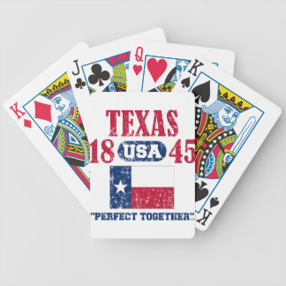 TEXAS PERFECT TOGETHER DISTRESSED PRODUCTS BICYCLE PLAYING CARDS