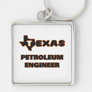 Texas Petroleum Engineer Silver-Colored Square Keychain