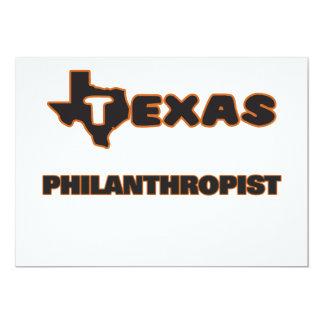 """Texas Philanthropist 5"""" X 7"""" Invitation Card"""