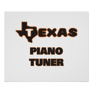 Texas Piano Tuner Poster