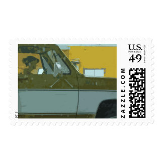 Texas Pick-up Truck Postage Stamps
