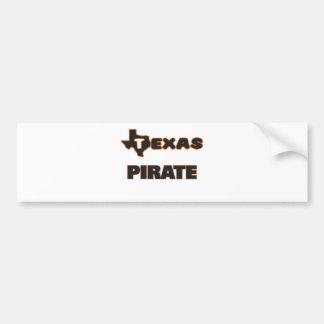 Texas Pirate Car Bumper Sticker
