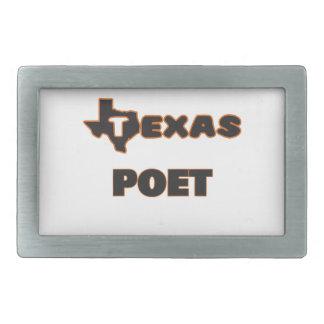 Texas Poet Rectangular Belt Buckle