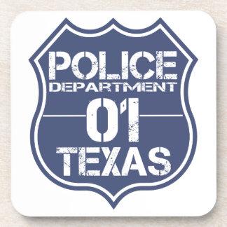 Texas Police Department Shield 01 Drink Coaster