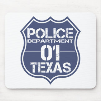 Texas Police Department Shield 01 Mouse Pad