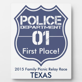 Texas Police Department Shield 01 Plaque