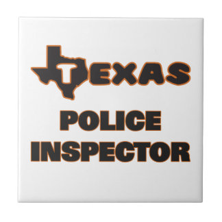Texas Police Inspector Small Square Tile