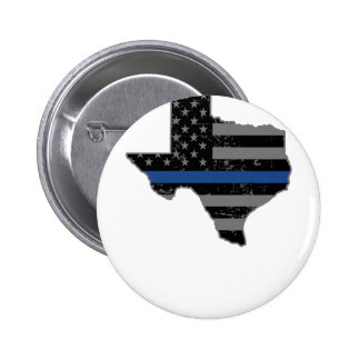 Texas Police & Law Enforcement Thin Blue Line Button