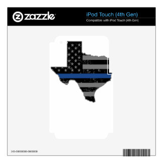 Texas Police & Law Enforcement Thin Blue Line iPod Touch 4G Decal