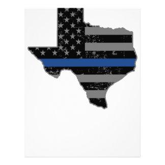 Texas Police & Law Enforcement Thin Blue Line Letterhead