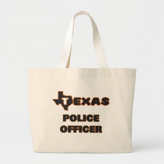Texas Police Officer Jumbo Tote Bag
