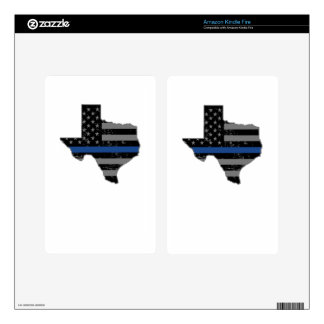 Texas Police Officer Thin Blue Line Skin For Kindle Fire