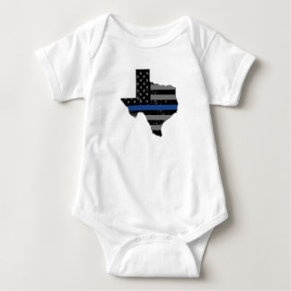Texas Police Officer Thin Blue Line T Shirt