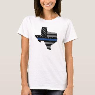 Texas Police Thin Blue Line T Shirt
