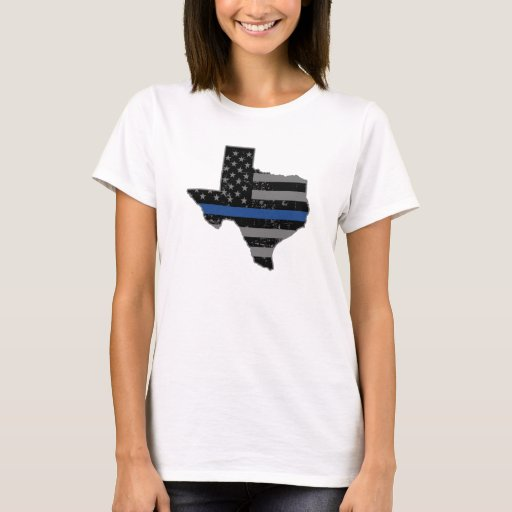 Texas police thin blue line t shirt zazzle for Texas thin blue line shirt