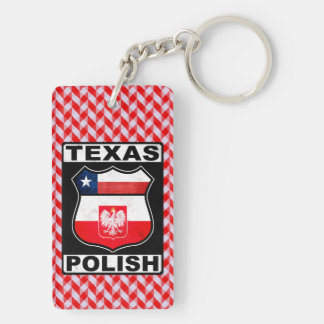 Texas Polish American Keyring