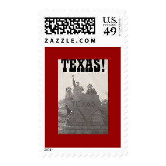 """TEXAS!"" postage stamps"