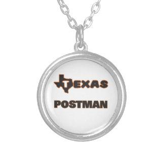 Texas Postman Round Pendant Necklace