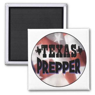 Texas Prepper 2 Inch Square Magnet