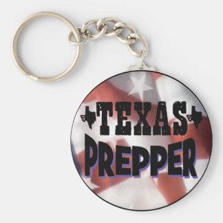 Texas Prepper Basic Round Button Keychain