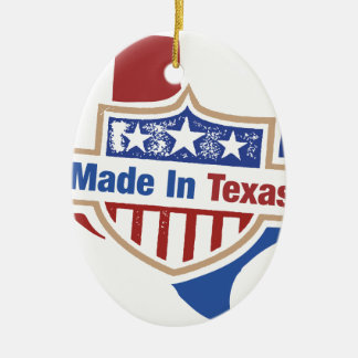 Texas Pride - Made In Texas Ceramic Ornament